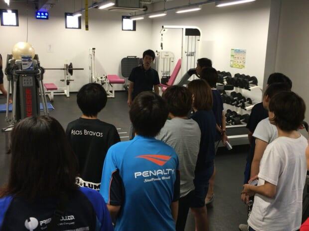 トップ選手が使用するトレーニングルーム