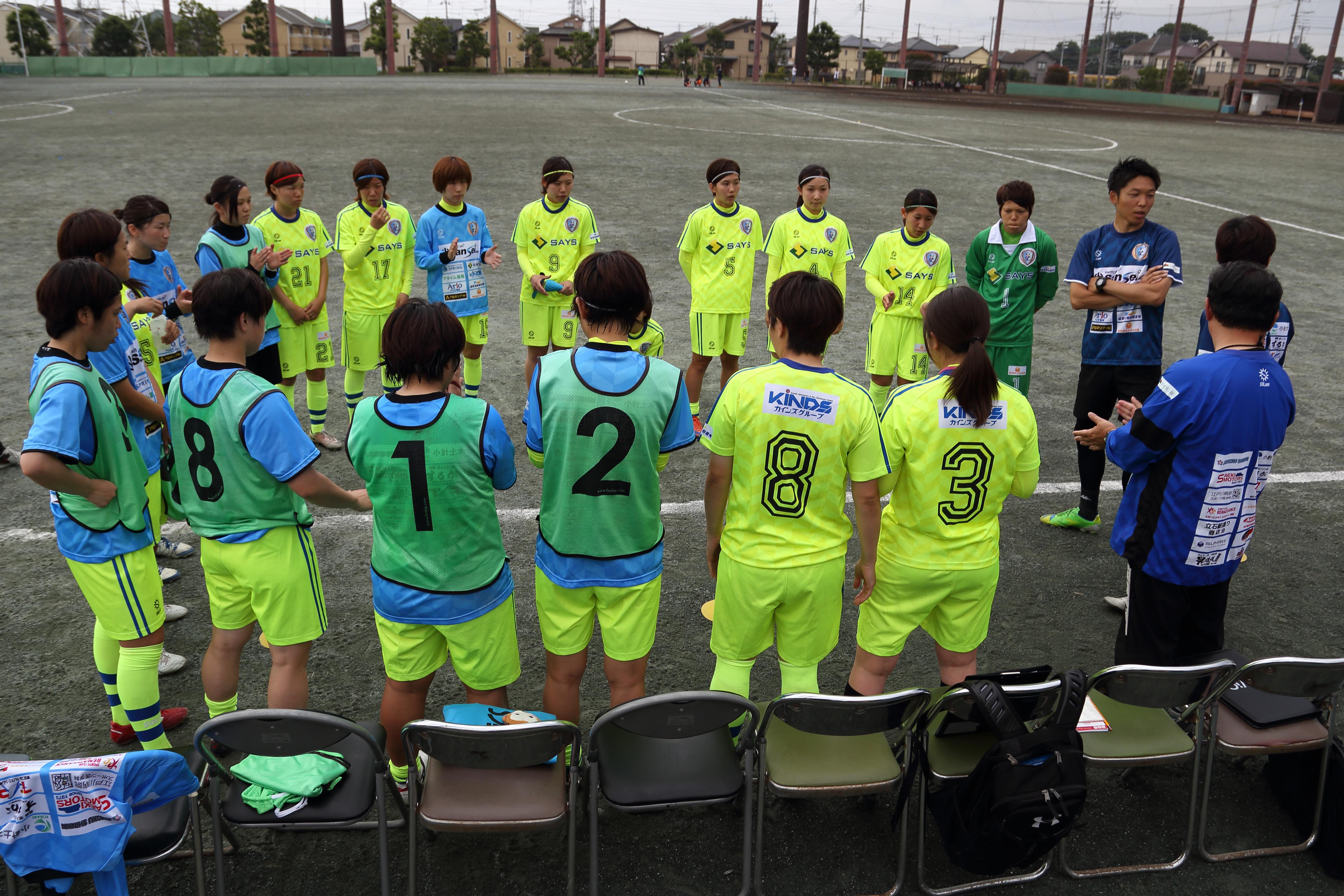 試合前のミーティング